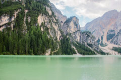 Le lac de Braies Photos libres de droits