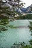 Le lac de Braies Photographie stock libre de droits