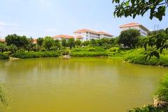 Le lac de l'hôtel de stations de vacances de tianzhu Photographie stock