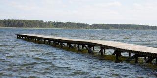 Le lac de Sanguinet est le 2ème plus grand lac dans le voyage et les vacances de Frances Images stock