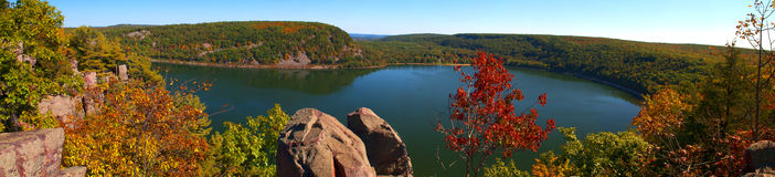 Le lac devil's image stock