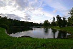 Le lac en parc à VDNKH Photos libres de droits