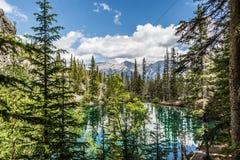 Le lac et la montagne Images libres de droits