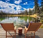 Le lac et le tourisme Photo libre de droits