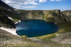 Le lac eye, les sept lacs Rila, montagne de Rila Photographie stock libre de droits