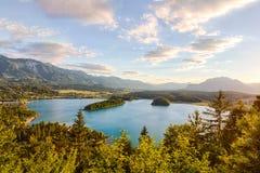 Le lac Faaker voient dans Carinthie, Autriche Photographie stock