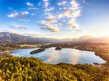 Le lac Faaker voient dans Carinthie, Autriche Image stock