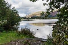 Le lac Grasmere et éloigné abat Photographie stock libre de droits