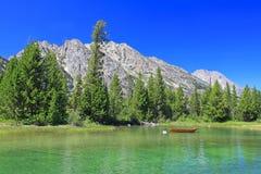 Le lac jenny dans Teton grand Images stock