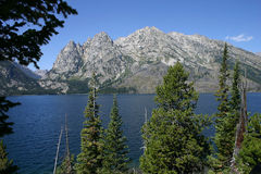 Le lac jenny donnent sur Photo libre de droits