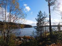 Le lac Ladoga Photographie stock