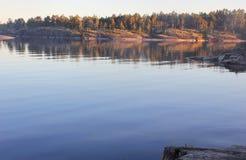Le lac Ladoga, Carélie, Russie Image stock