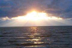 Le lac Michigan sinistre II Photo libre de droits