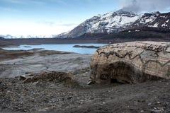 Le lac mont Cenis vide Image stock