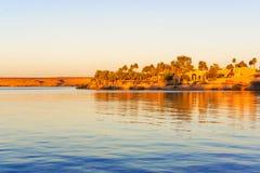 Le Lac Nasser en Abu Simbel Images stock