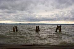 Le lac Neusiedl, Neusiedler voient, l'Autriche Photographie stock libre de droits