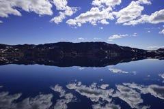 Le lac Oskjuvatn dans les montagnes de l'Islande photos libres de droits