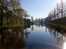 Le lac paisible au matin photos libres de droits