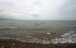 Le Lac Qinghai dans la porcelaine Photos libres de droits
