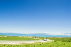 Le Lac Qinghai, paysage XI de Ning de la Chine Photo stock