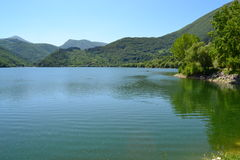 Le lac Scanno Image libre de droits