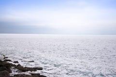 Le lac Supérieur congelé Photo libre de droits
