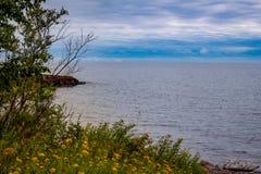 Le lac Supérieur de négligence du manganèse de deux ports image libre de droits