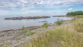 Le lac Supérieur, près du port de cuivre, MI Photographie stock libre de droits