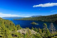 Le lac Tahoe, Emerald Bay et Fannette Island Photographie stock