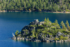 Le lac Tahoe, Emerald Bay et Fannette Island Images libres de droits