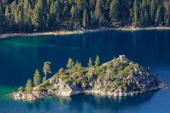 Le lac Tahoe, Emerald Bay et Fannette Island Photographie stock libre de droits