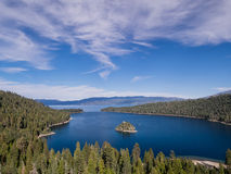 Le lac Tahoe, Emerald Bay et Fannette Island Photo stock