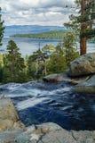 Le lac Tahoe en octobre Photo stock