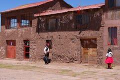Le Lac Titicaca Pérou/15ème le Lac Titicaca le Pérou le 15 septembre 2013/ image libre de droits