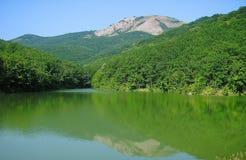 Le lac Voron Image libre de droits