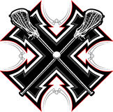 Le Lacrosse colle le descripteur graphique Images libres de droits