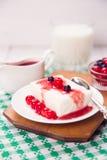 Le lait caillé est dessert photos stock