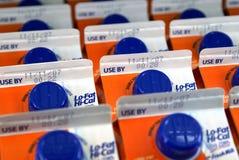 Le lait cartonne la configuration Images libres de droits