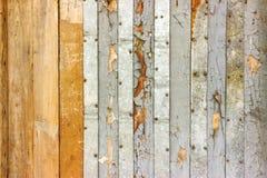 Le lait de chaux de vintage a peint vieux le fond texturisé par mur minable en bois rustique de planche Structure de panneau en b Photos stock