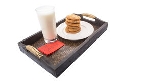 Le lait et la maison ont fait à des biscuits pour Santa Claus VI Photos stock