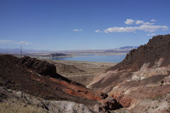 Le Lake Mead, parc d'état, Nevada Image stock