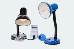 Le lampade del LED sostituiscono le lampade vecchie Fotografia Stock