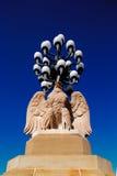 Le lampade di via antica stanno sul ponte della via del mercato, Filadelfia Fotografia Stock
