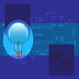 Le lampadine è blu Fotografie Stock