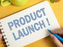 Le lancement de produits, vente de motivation d'affaires exprime l'escroquerie de citations photo libre de droits