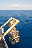 Le lancement de ROV (véhicule exploité par distant) Photos libres de droits