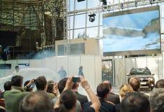 Le lancement du chiffon de Dacia Images libres de droits