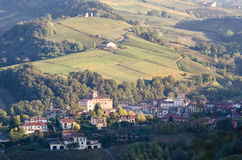 Le Langhe Barolo hills and landscape Stock Images