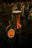Luci di bambù Immagini Stock