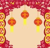 Le lanterne porteranno la buona fortuna Immagine Stock Libera da Diritti